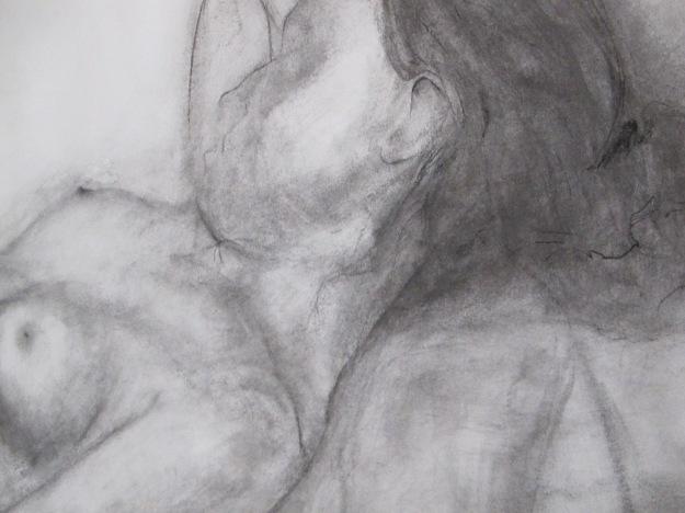 Sleeping girl in the studio (detail)