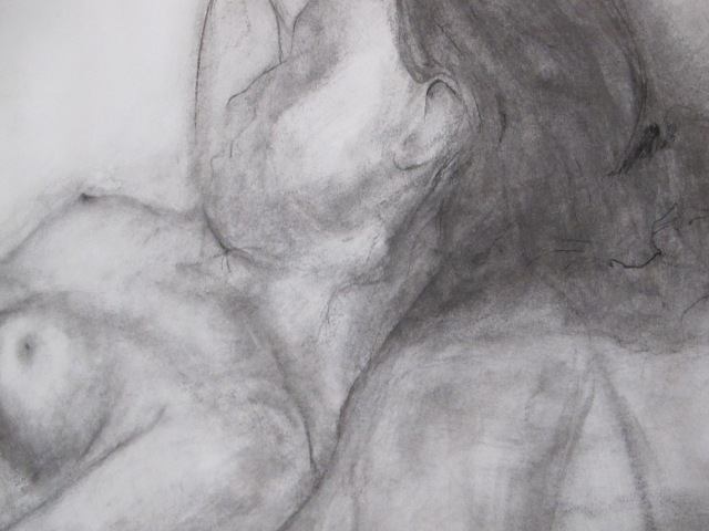 Sleeping girl in the studio (detail)